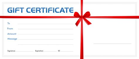 Gift Card Template Certificate Gift Certificate Template