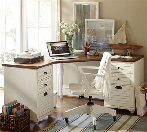 whitney corner desk set potterybarn office pinterest