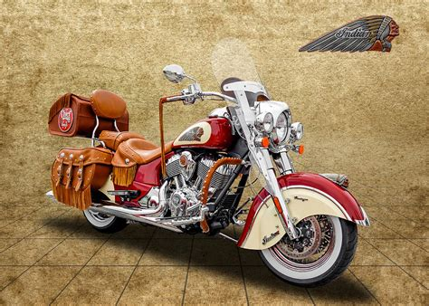 Indian Chief Vintage Image by 2015 Indian Chief Vintage Motorcycle 1 Photograph By