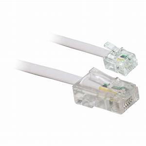 15m Rj11 To Rj45 Telephone Patch Cable Lead