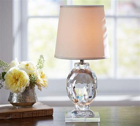 Pottery Barn Accent Table Lamps by Carlotta Faceted Crystal Accent Lamp Pottery Barn