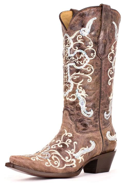 corral boots womens sequence silver cross cowgirl boots