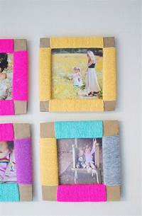 how to make picture frames DIY Crafts: 14 Captivating Photo Frame Ideas for Room ...