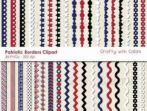 4th of July Patriotic Themed Digital Border Clip Art Set ...