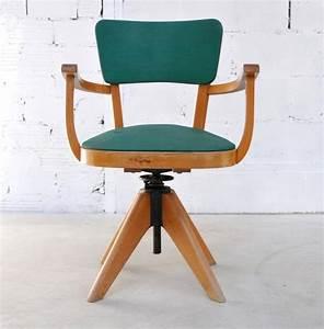 Chaise Bureau Vintage : fauteuil de bureau en moleskine fauteuil ancien et vintage ~ Teatrodelosmanantiales.com Idées de Décoration