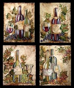 wine bottle grapes on wine bottles tre sorelle art for With what kind of paint to use on kitchen cabinets for wine barrel wall art