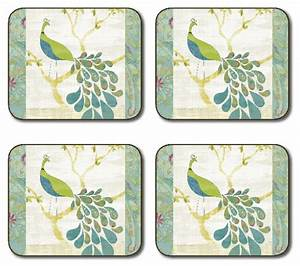 Placematscouk jason mod peacock large placemats for Oversized placemats
