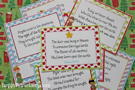 printable christmasreligious scenes to add your own poems to and print the 12 days of a celebration of the nativity free printables happy home