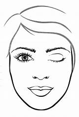Makeup Face Coloring Pages Kay Mary Template Getcoloringpages Lipstick Polish Nail sketch template