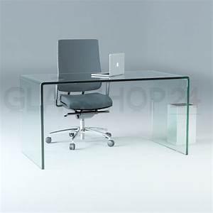 Schreibtisch Aus Glas : design schreibtisch aus 15mm echtglas b t h 1400x700x730mm ~ Markanthonyermac.com Haus und Dekorationen