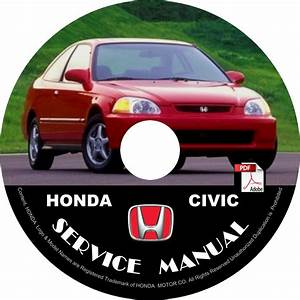 1992 Honda Civic Service Repair Shop Manual On Cd Fix