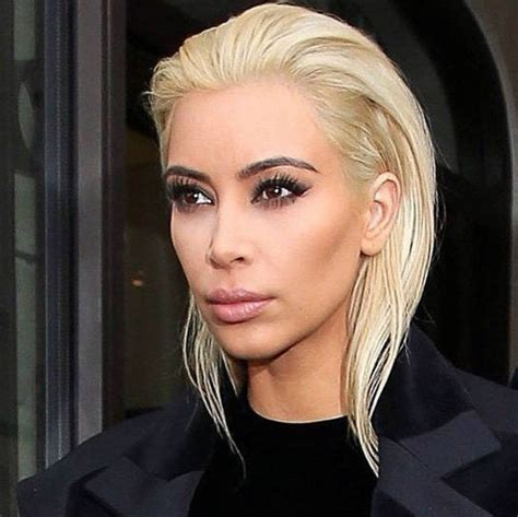 Is Kim Kardashians New Platinum Blonde Hair Hot Or Not