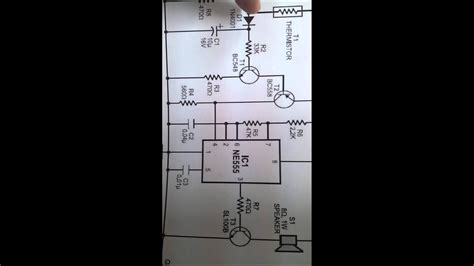 fire alarm circuit   timer  thermistor youtube