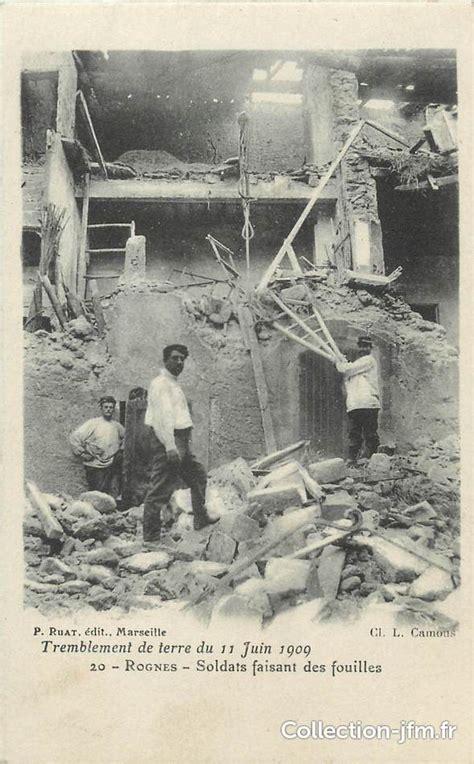 cpa france 13 quot rognes tremblement de terre du 11 juin