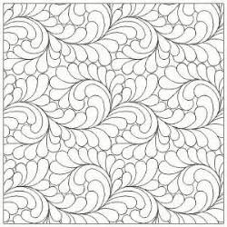 sisters fabric  abundant feathers interlocking ee long arm quilting patterns