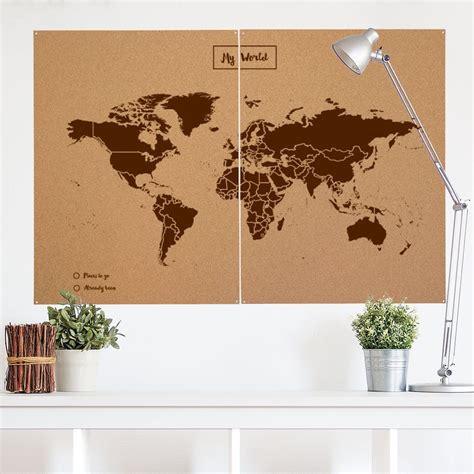 Mapamundi de corcho decorativo XXL La tienda de