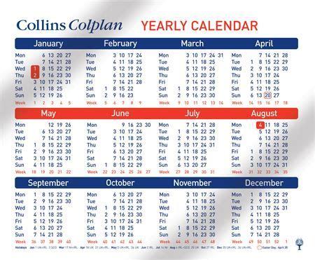 colplan yearly calendar cds