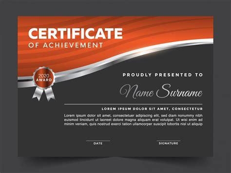 editable modern certificate vector template