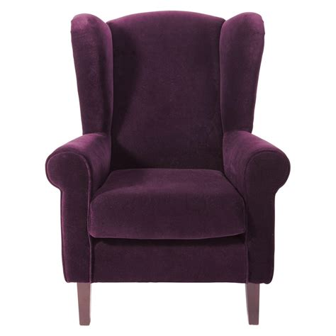 deco chambre fille princesse fauteuil enfant en velours violet velvet maisons du monde