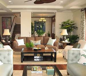noela honolulu hawaii tropical living room orange With tropical interior design living room