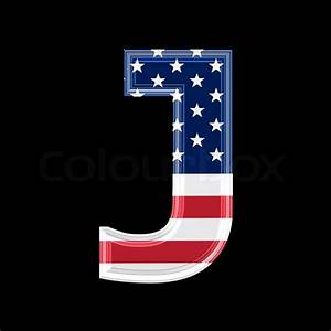 Us 3d letter isolated on black background - J | Stock ...
