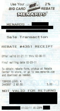 how to use menards rebates to save money and get free stuff