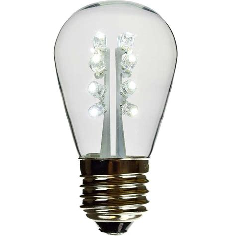 led s14 light bulb medium base white glass