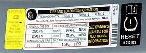 What Is The Recommended Tire Pressure For New Tires