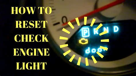 engine light came on diy how to reset your check engine light without a scan
