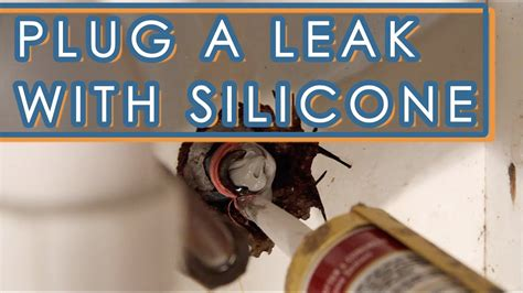 fix  leaking faucet  silicone sealant youtube