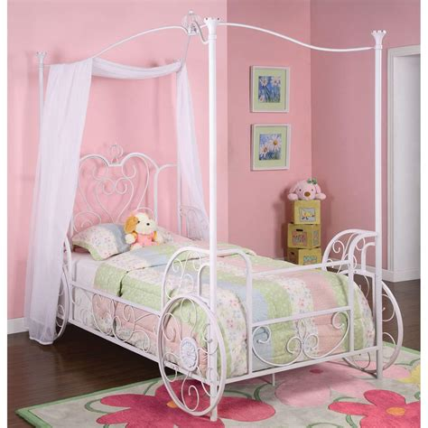 powell princess emily canopy bed kids canopy beds