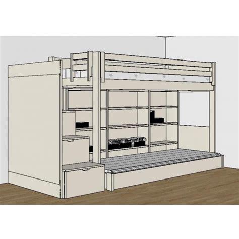 lit mezzanine avec bureau pour ado chambre design spécial ados juniors signé asoral lit