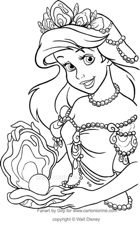 disegni da colorare principessa ariel la sirenetta ariel disegni da colorare principessa