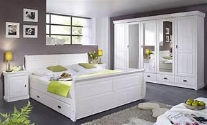 Schlafzimmer Komplett Weiß : massivholz schlafzimmer set komplett 180x200 kiefer massiv ~ Orissabook.com Haus und Dekorationen