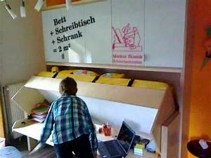 Schrankbett Mit Schreibtisch : schreinerei markus stosiek das bett mit schreibtisch tavoletto youtube ~ Eleganceandgraceweddings.com Haus und Dekorationen