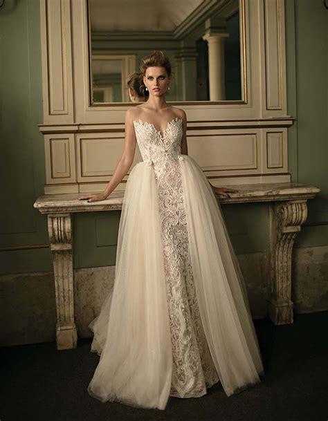 stunning wedding dresses  overskirts