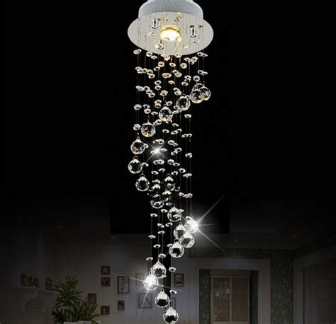 buy  custom  modern spiral crystal led chandelier