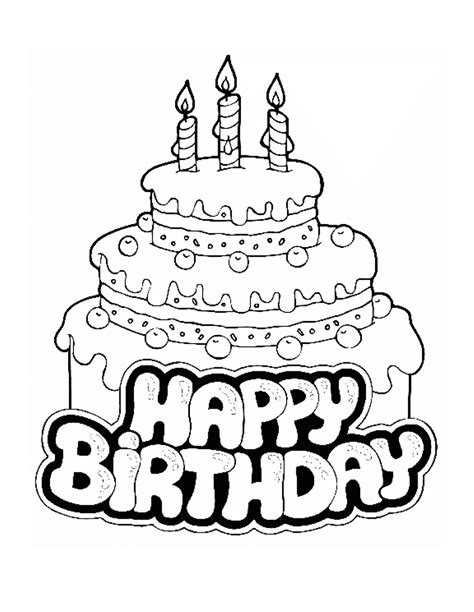 birthday cake coloring pages  large images crafts