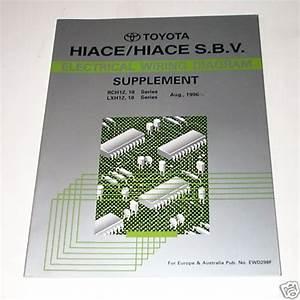 Electrical Wiring Diagram Elektrik Schaltplan Toyota Hiace