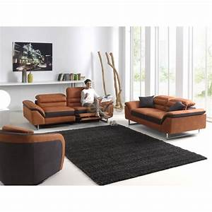 ensemble salon relax design contemporain tissu tetieres With tapis couloir avec canape relax design contemporain