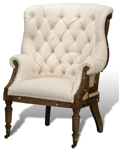 arm chair linen fabric wood traditional armchairs and