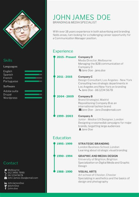 New Cv Template by Align Your Cv With The How To Write A Cv Cv Template