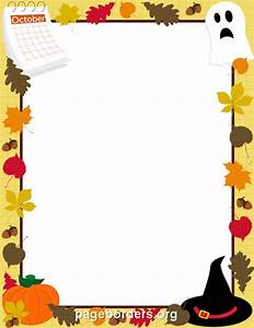 October Border: Clip Art, Page Border, and Vector Graphics