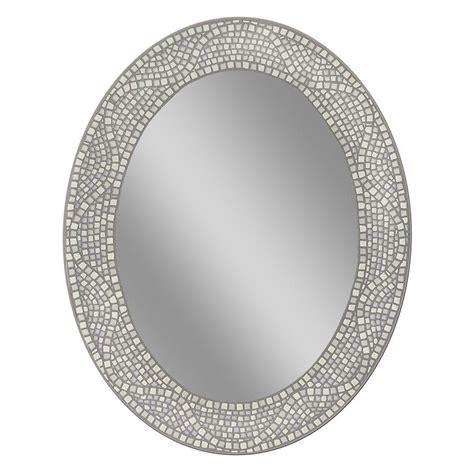 deco mirror      opal mosaic oval mirror