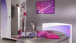 Chambre De Jeune Fille : la chambre des jeunes filles s habille de violet diaporama photo ~ Preciouscoupons.com Idées de Décoration