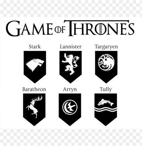 game  thrones logo vector png  png images toppng