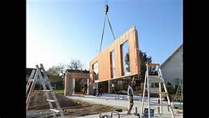 maison ossature bois contemporaine YouTube