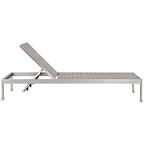 modern outdoor aluminum rattan chaise lounge modern