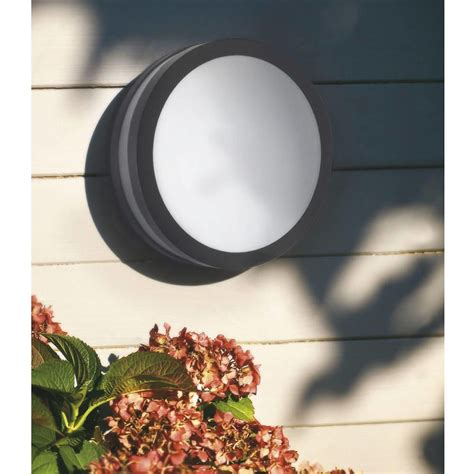 hull led outdoor light bulkhead grey from litecraft