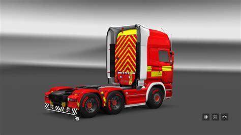 scania streamline fire truck skin ats mods american